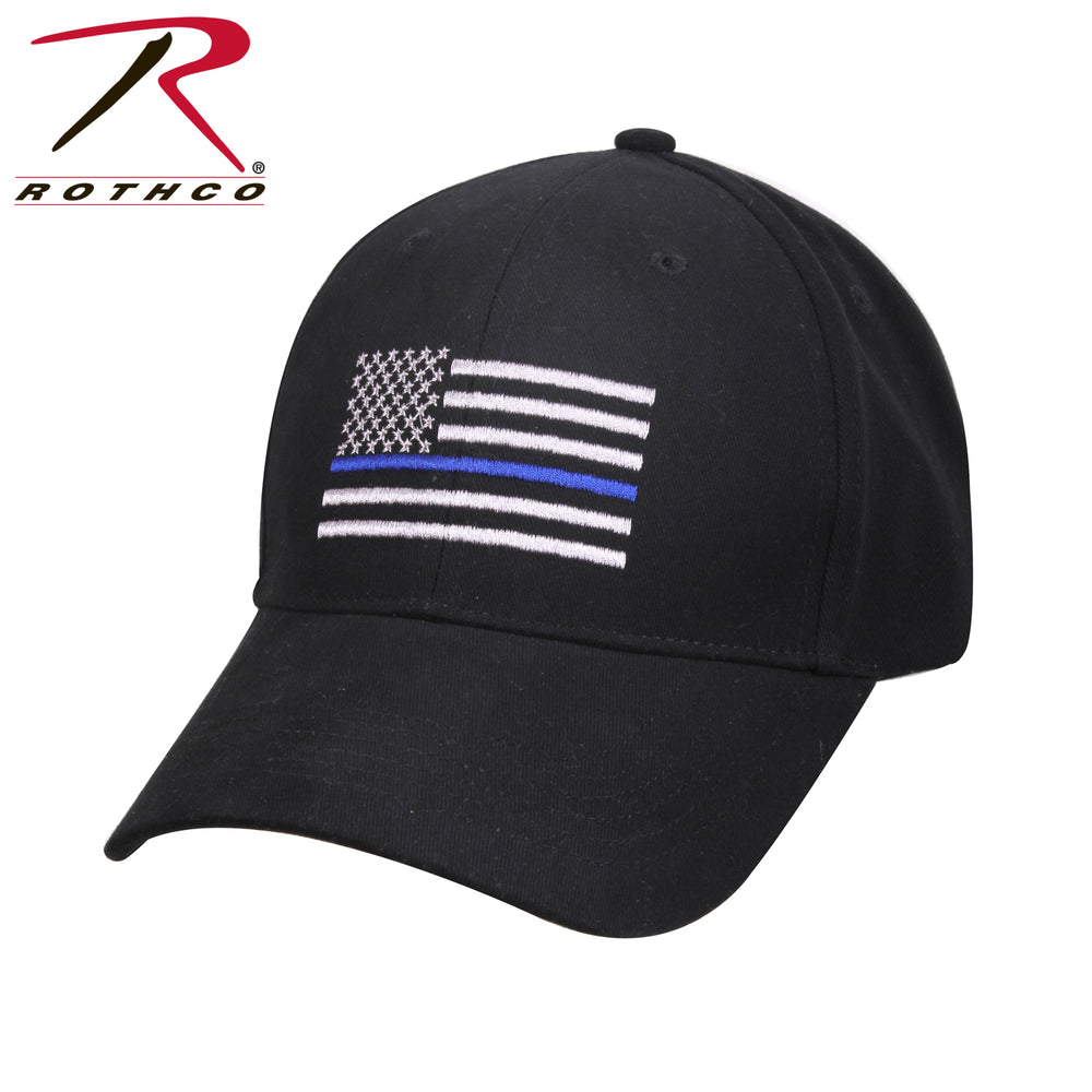 Rothco Thin Blue Line Flag Low Profile Cap - Red Diamond Uniform & Police Supply