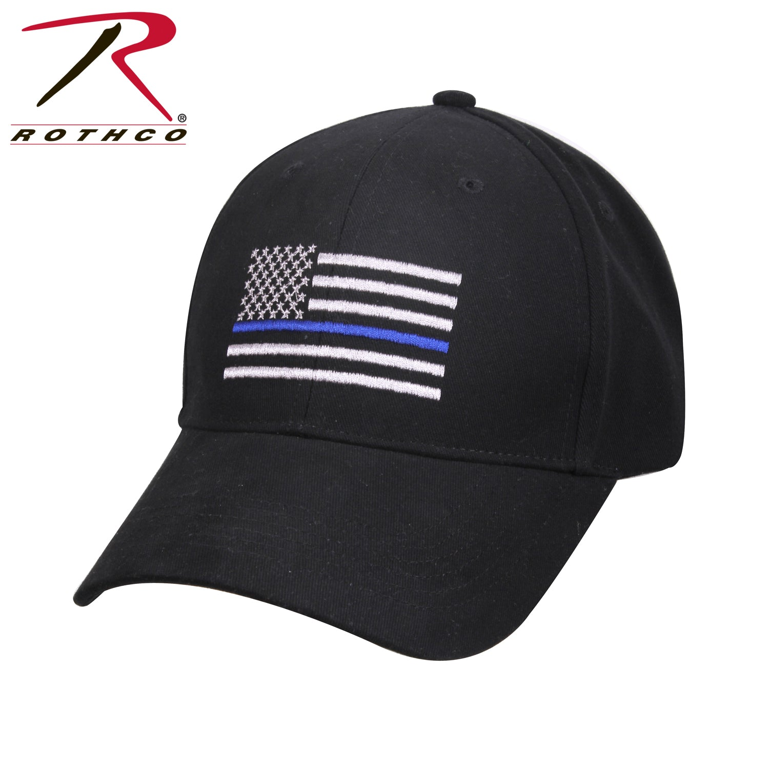 Rothco Thin Blue Line Flag Low Profile Cap - red-diamond-uniform-police-supply