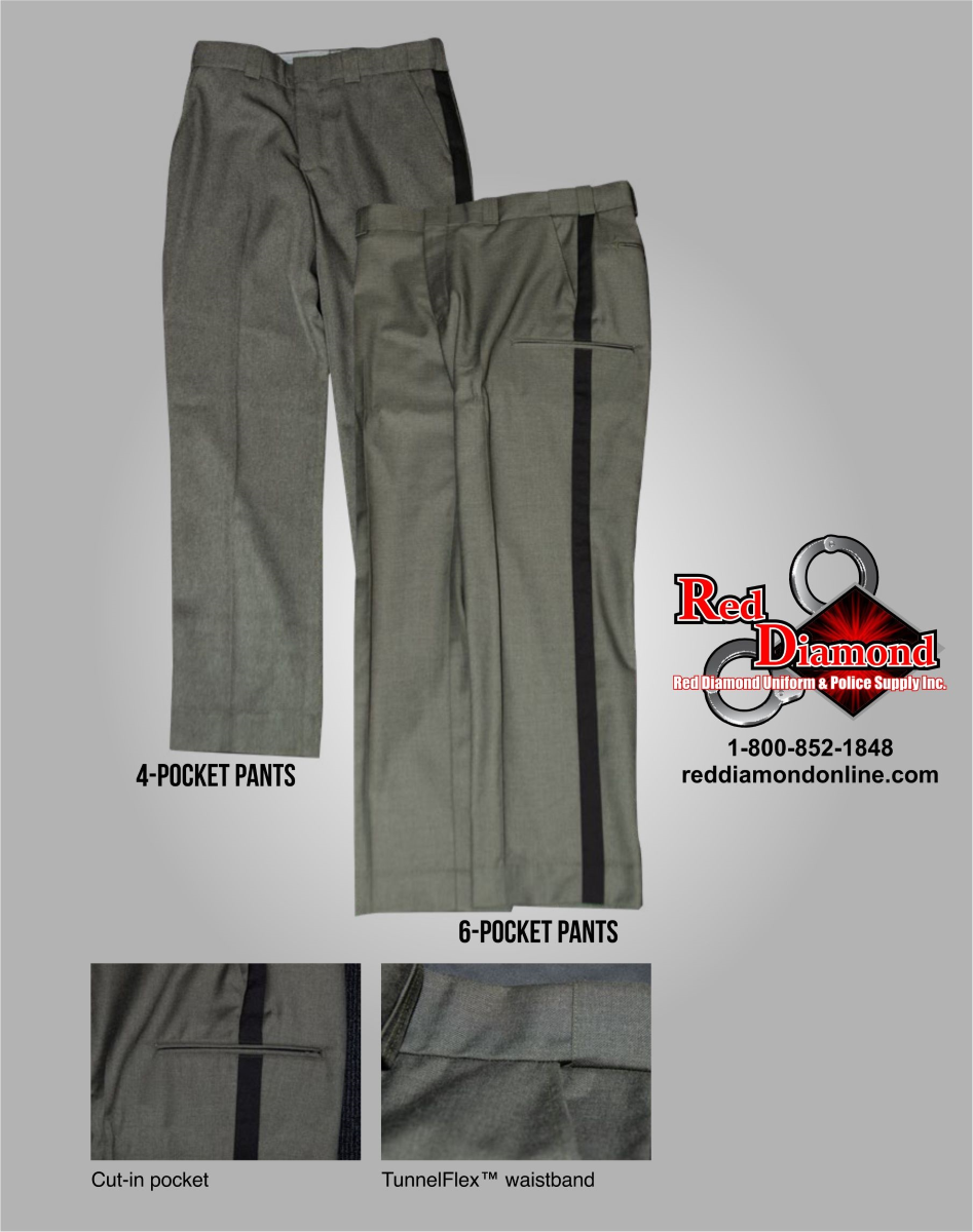Blauer Ohio Sheriff Polyester Sheriff Pants - 4 Pocket - BSSA Approved - red-diamond-uniform-police-supply