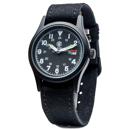 Smith & Wesson 3-IN-1 Military Watch -Black - red-diamond-uniform-police-supply