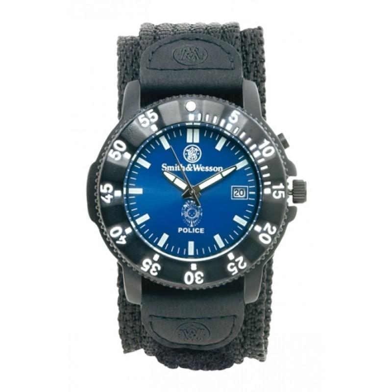 Smith & Wesson Nylon Back Glow Police Watch - red-diamond-uniform-police-supply