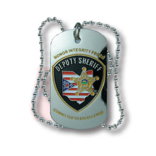 Premier Emblem Ohio Buckeye Sheriff Association Emblem Dog Tags - Red Diamond Uniform & Police Supply