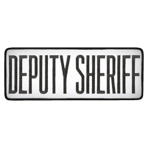 "4"" X 11"" Deputy Sheriff Dept Patch - red-diamond-uniform-police-supply"