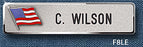 "Reeves F8 5/8"" Nameplate with Flag - Red Diamond Uniform & Police Supply"