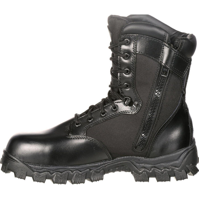 ROCKY ALPHAFORCE ZIPPER WATERPROOF DUTY BOOT - red-diamond-uniform-police-supply