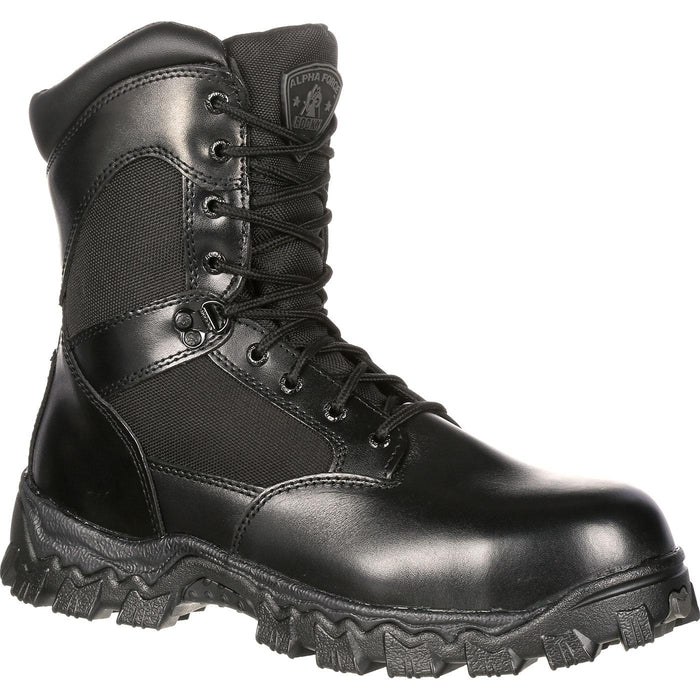 ROCKY ALPHAFORCE ZIPPER WATERPROOF DUTY BOOT - Red Diamond Uniform & Police Supply