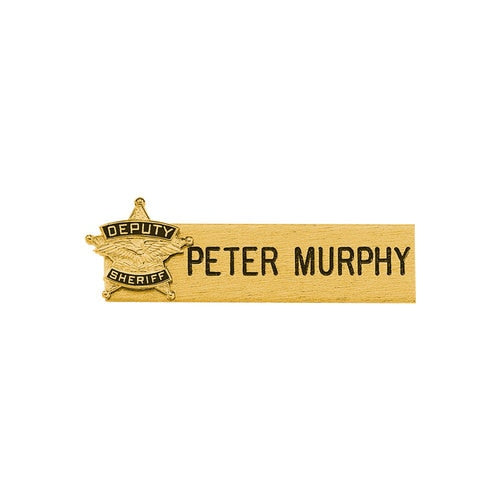 Blackinton Gold Nameplate w/Seal - Red Diamond Uniform & Police Supply