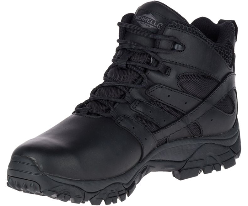 Merrell Moab 2 Mid Tactical Response Waterproof Boot  - Mens - red-diamond-uniform-police-supply