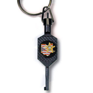 Premier Emblem Tactical Cuff Key with Ohio Buckeye Sheriff Association emblem - Red Diamond Uniform & Police Supply