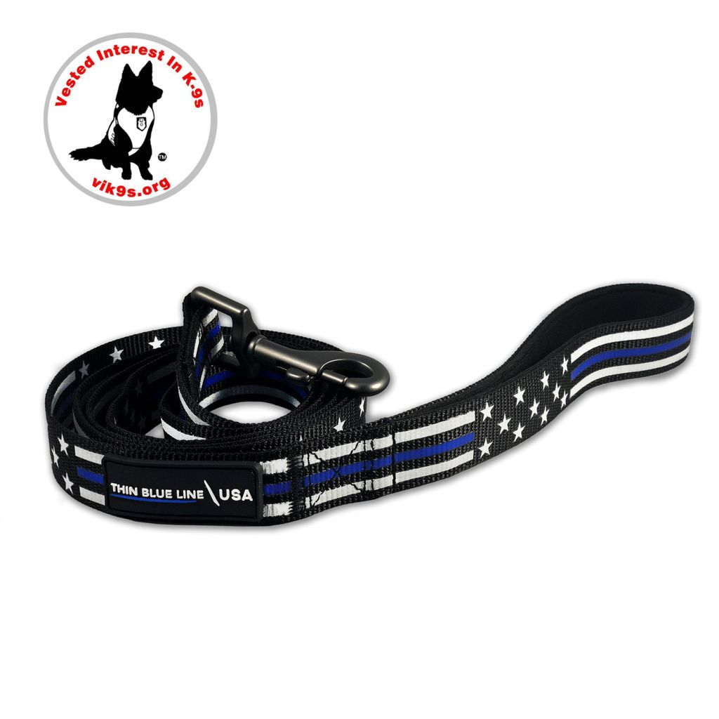 DOG LEASH - THIN BLUE LINE STARS & STRIPES