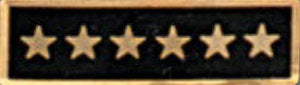 Premier Emblem Enameled Service Stars - Red Diamond Uniform & Police Supply
