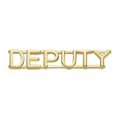 "Premier Emblem Deputy Collar Brass 1/4"" - Red Diamond Uniform & Police Supply"