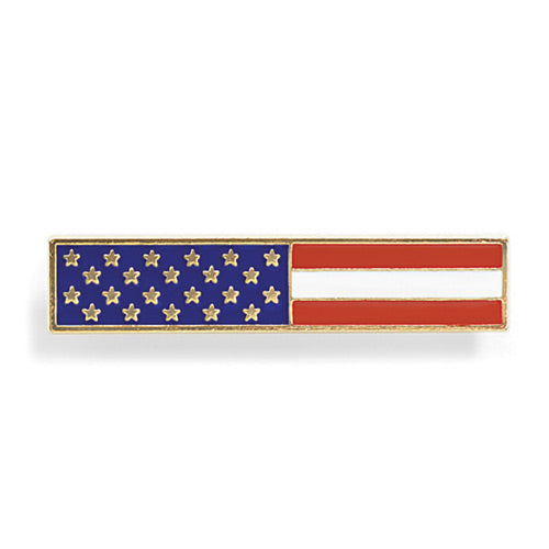 Premier Emblem American Flag (Long) Rectangle - Red Diamond Uniform & Police Supply