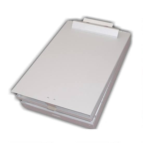 Posse Aluminum Letter Size Bottom Opening Storage Clipboard - Red Diamond Uniform & Police Supply