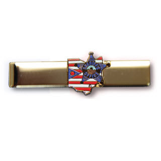Premier Emblem Ohio Buckeye Sheriff Association emblem Tie Bar - red-diamond-uniform-police-supply