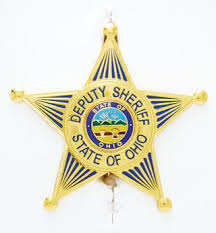 Premier Emblem Ohio Buckeye Sheriff Association Badge - Red Diamond Uniform & Police Supply