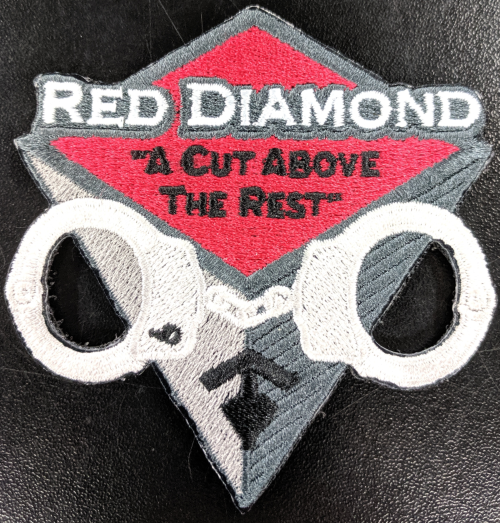 Red Diamond Promo Patch - red-diamond-uniform-police-supply