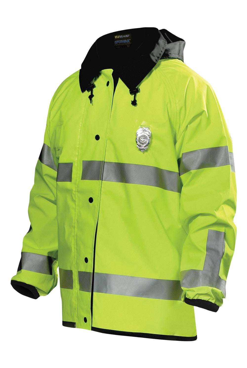 Spiewak VizGuard Short Reversible Duty Rain Jacket ANSI 107-2010 Class 3 - red-diamond-uniform-police-supply