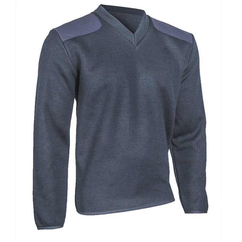 Cobmex V-Neck Fleece Lined Commando Sweater