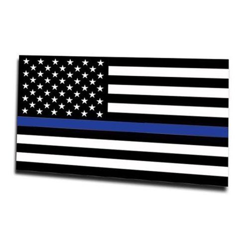 Magnet - Thin Blue Line American Flag 3x5