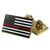 CLASSIC THIN RED LINE AMERICAN FLAG PIN · DOUBLE CLUTCH BACKING