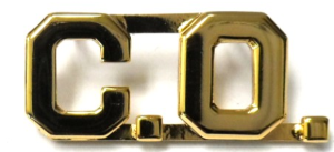 "Premier Emblem ""C.O."" Collar Brass - red-diamond-uniform-police-supply"