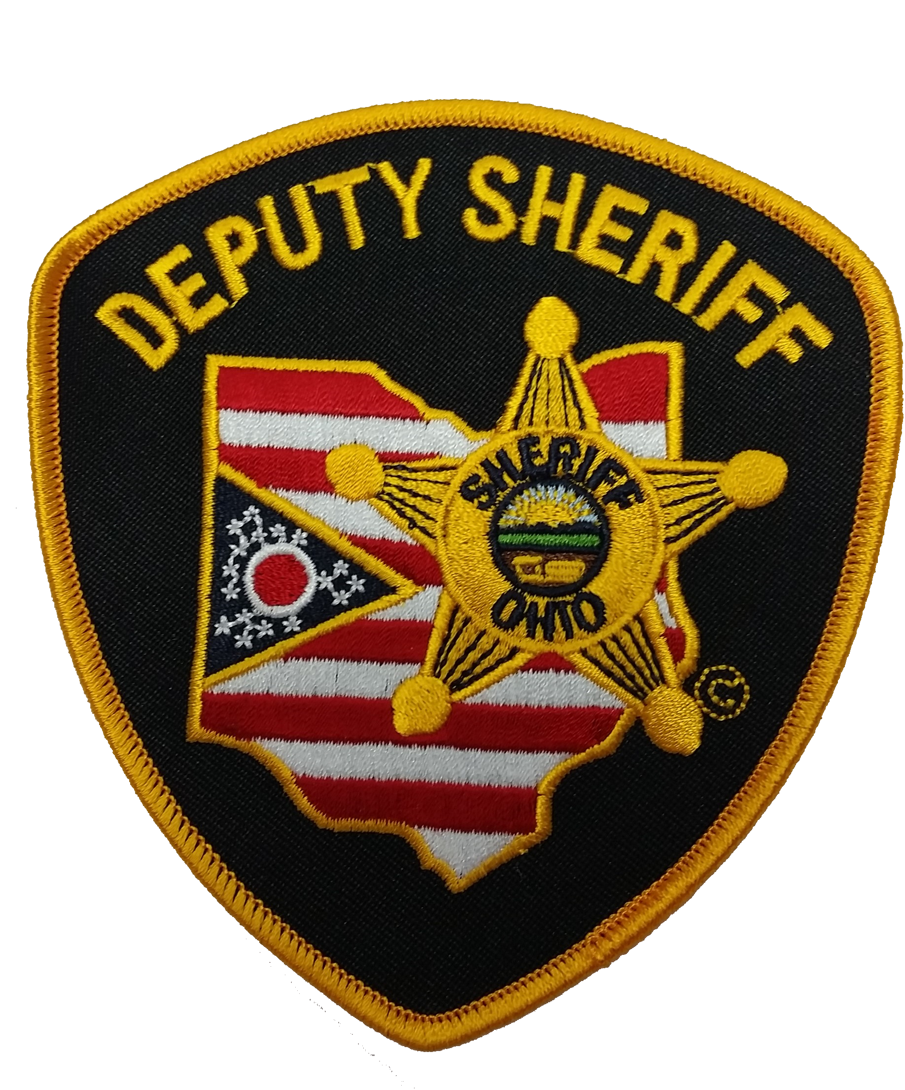 "Ohio Sheriff ""Deputy Sheriff"" Patches - 2 Pack - red-diamond-uniform-police-supply"