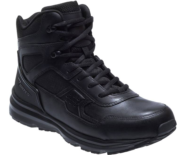 Bates Raide Mid Slip Resistant Tactical Boot- Black - Red Diamond Uniform & Police Supply