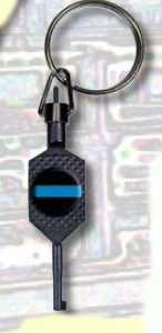 Premier Emblem Tactical Thin Blue Line Handcuff Key - Red Diamond Uniform & Police Supply