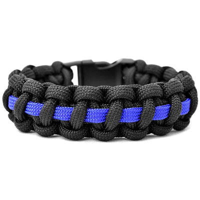 Echo Tactical Thin Blue Line Paracord Survival Bracelet - red-diamond-uniform-police-supply
