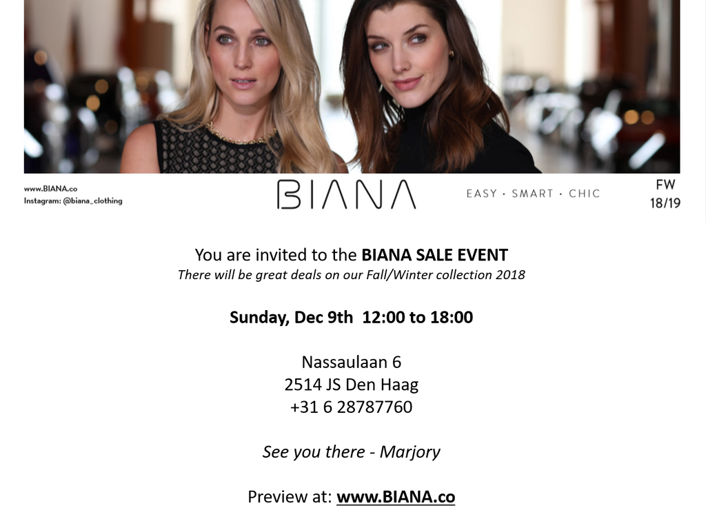 BIANA Sale Event: December 9th, The Hague