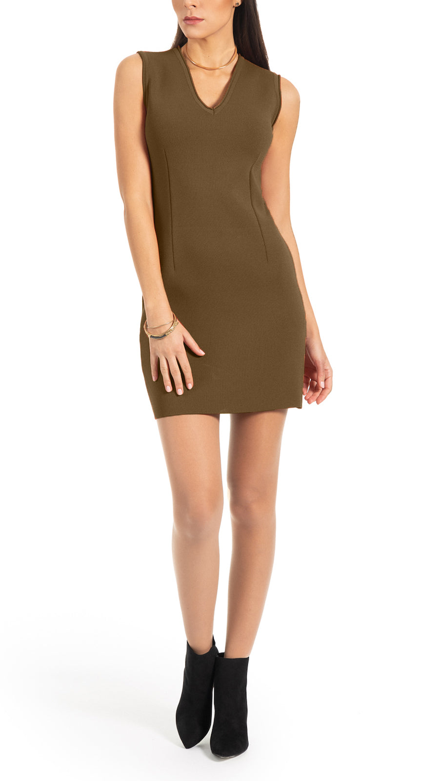 Suri Milano knit dress, Olive