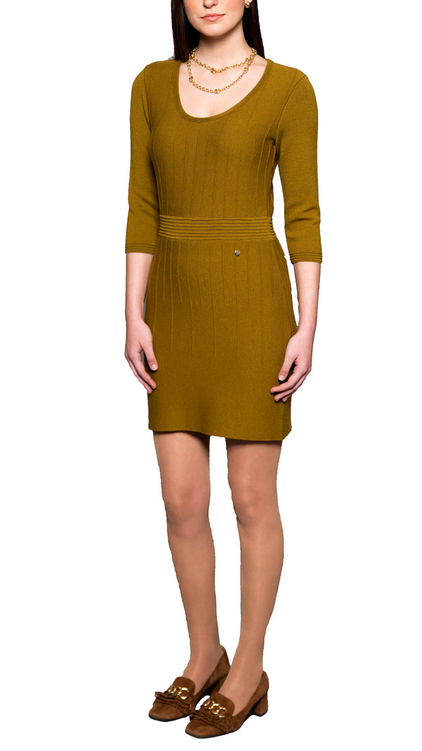 Julie Knitted Dress, Lemon Grass