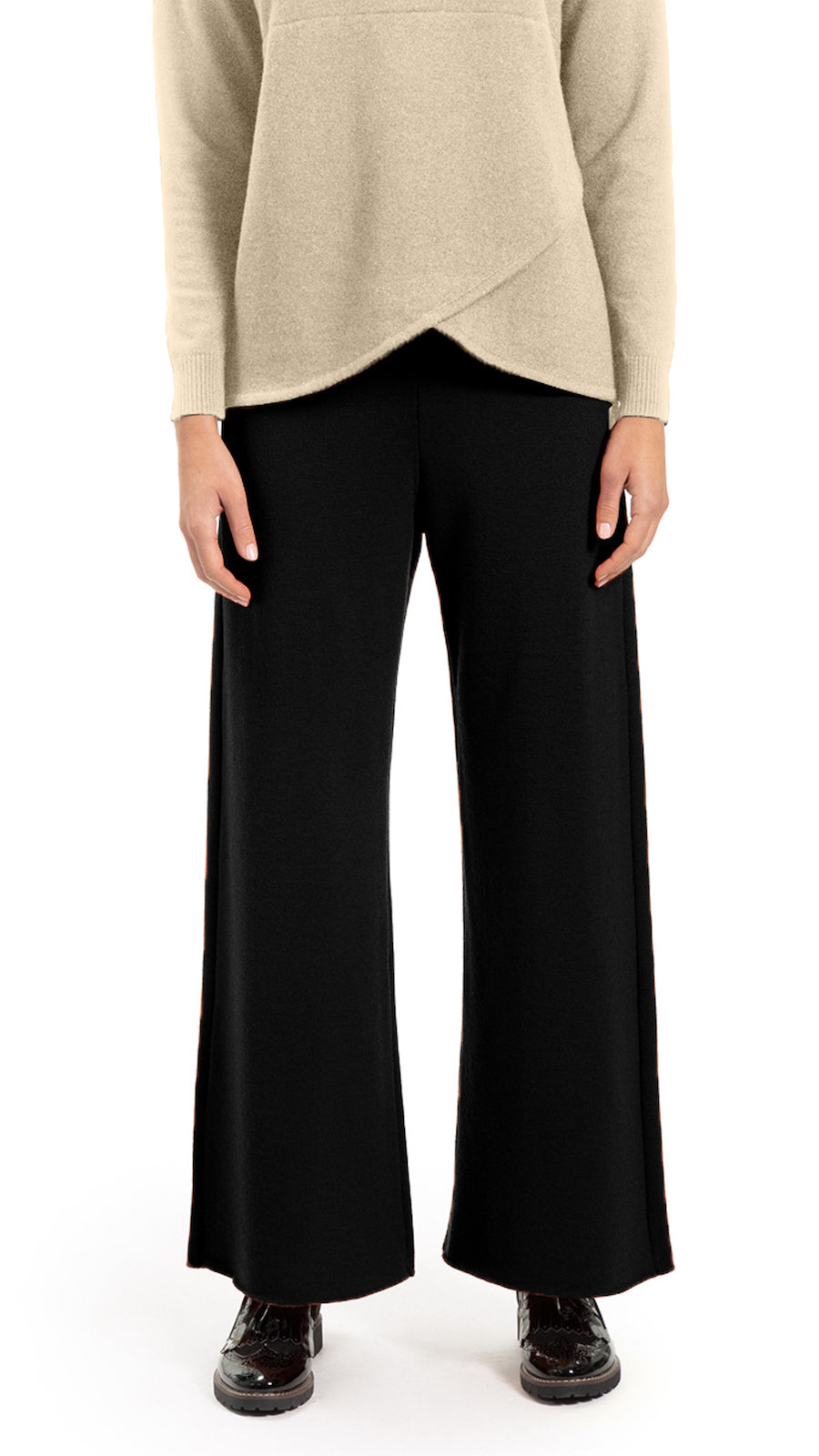 Portia Milano knit pants, Black