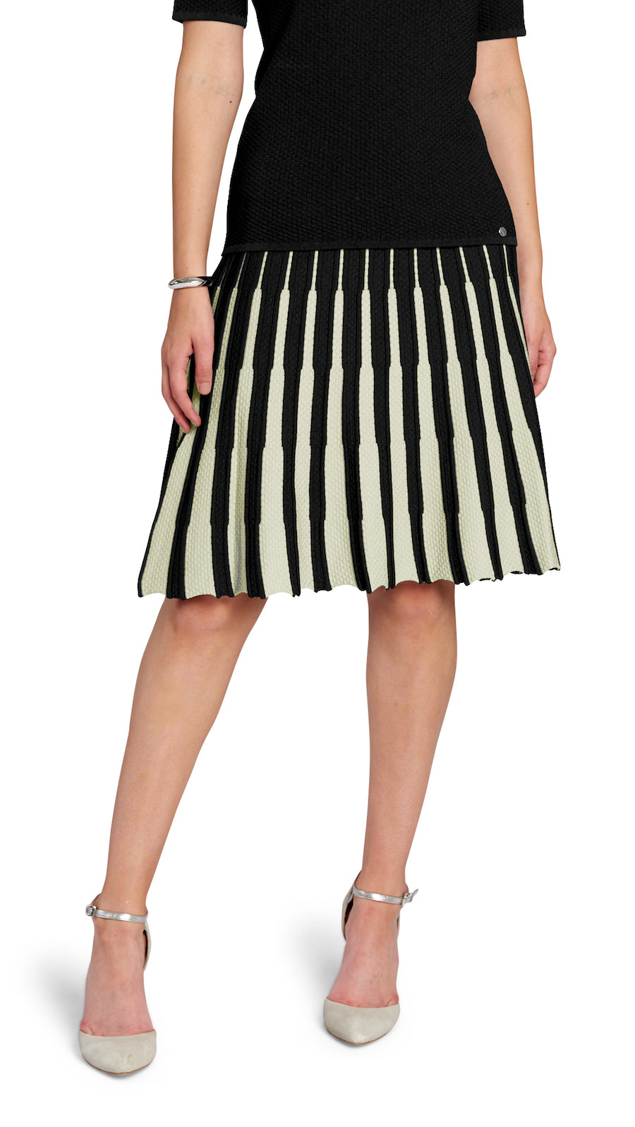 Lucy flare skirt, Black/White