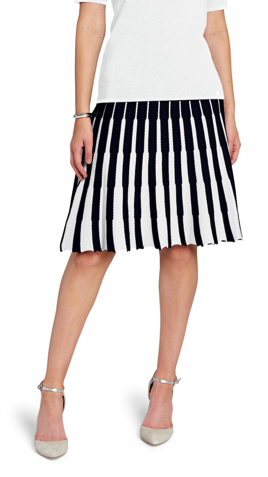Lucy flare skirt, Navy/White