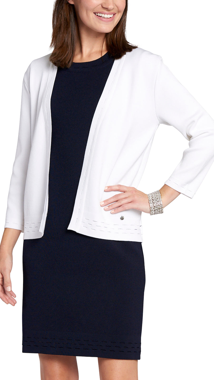 Adelyn Cardigan, White
