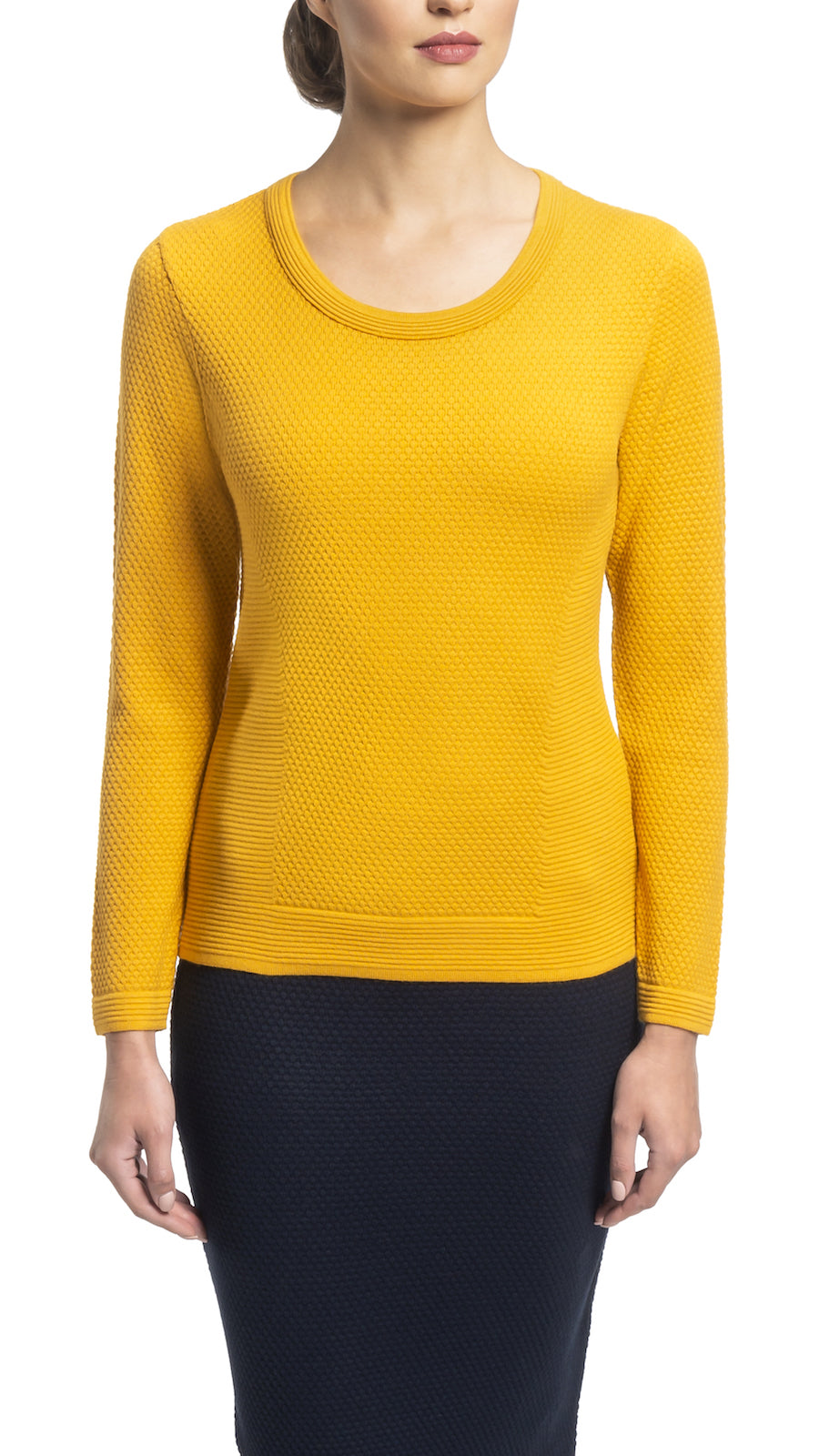 CONTEMPO Helene knitted top, Gold