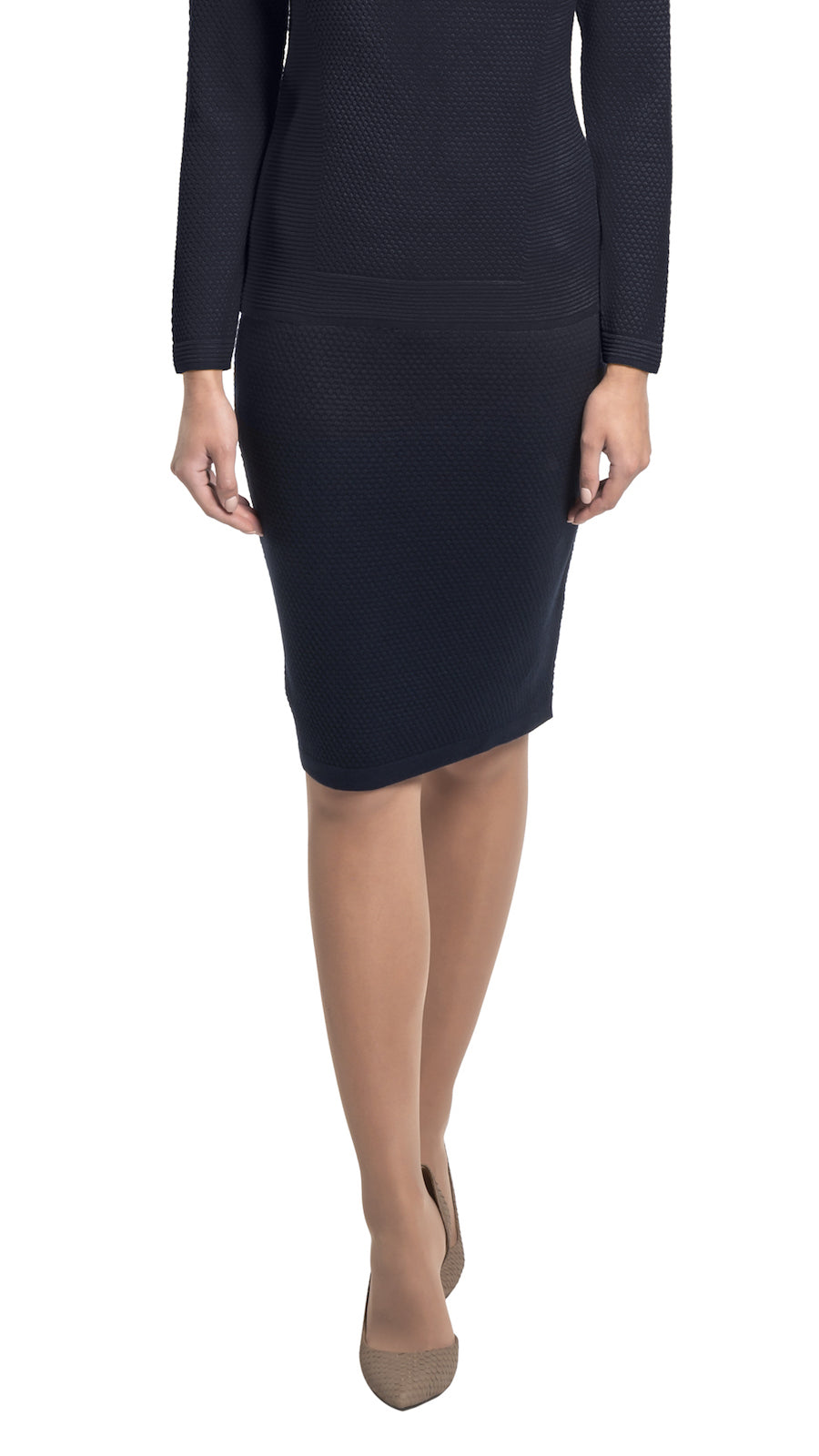CONTEMPO Jilliane knitted skirt, Navy