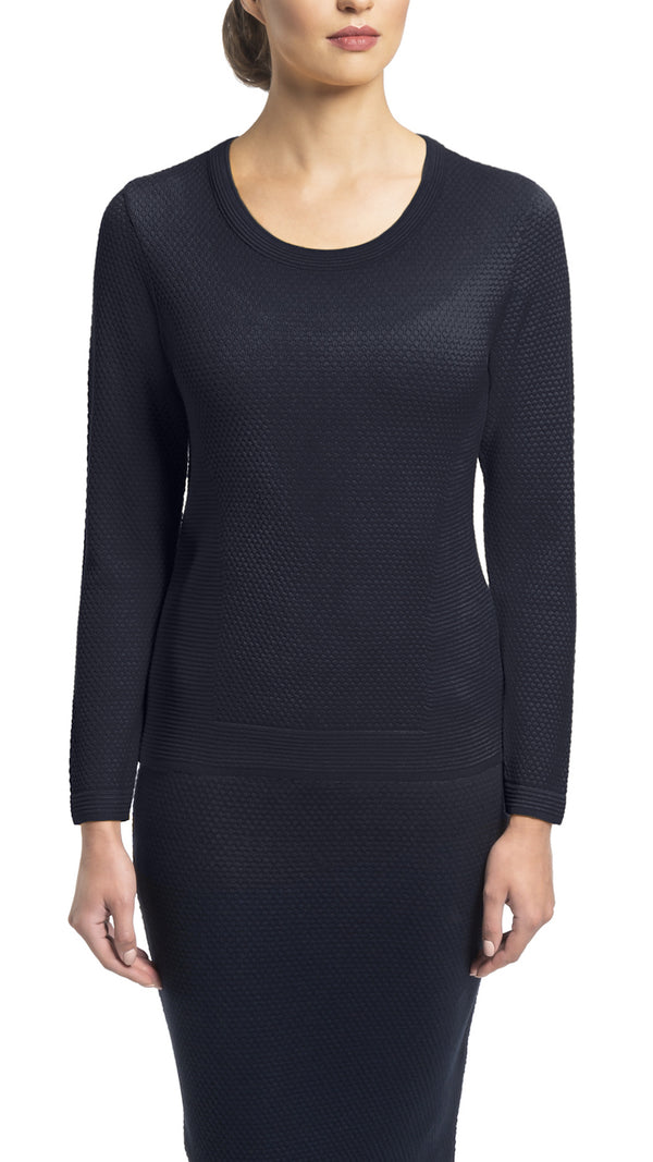 CONTEMPO Helene knitted top, Navy