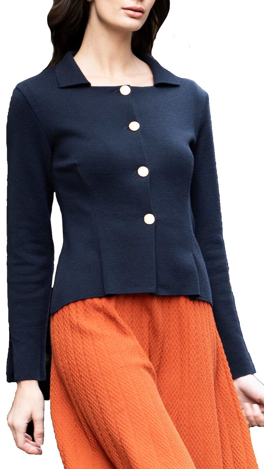 Nathaly knitted jacket, Navy