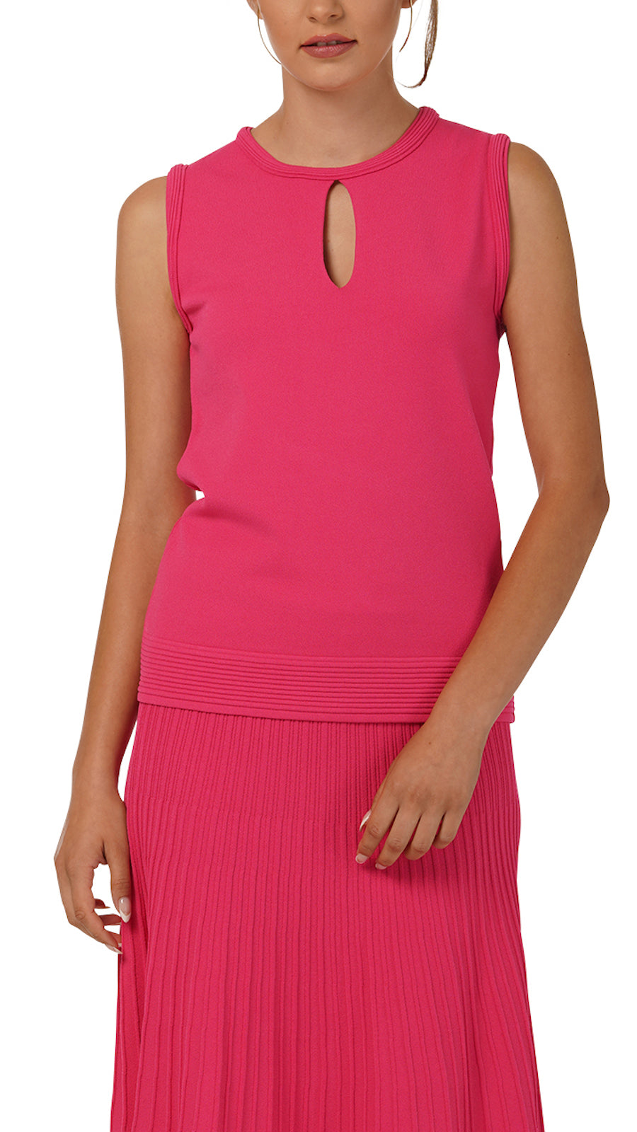 Stella Sleeveless Knitted Top, Pink