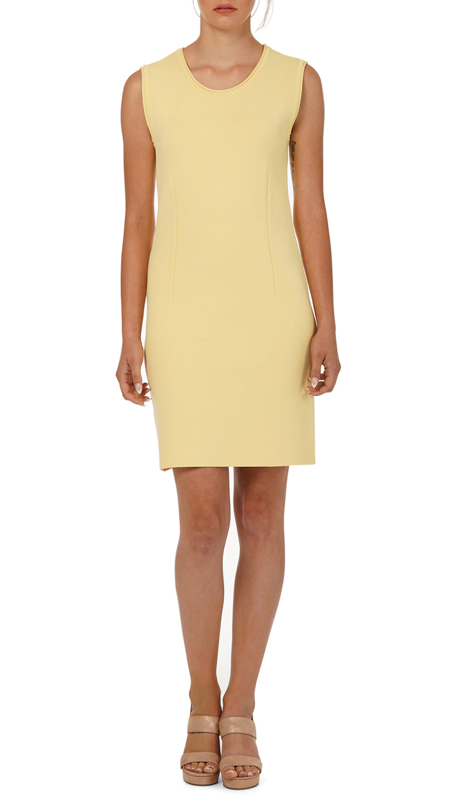 Susan Milano-Knit Dress, Yellow