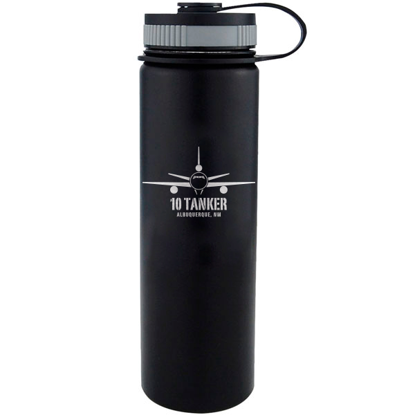 10 Tanker insulated black bottle