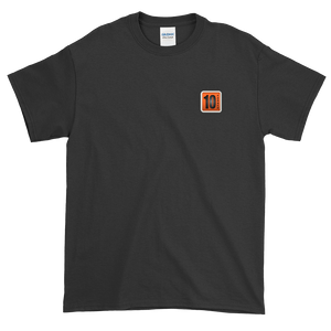 10 Tanker Black short sleeve with printed logo on left chest
