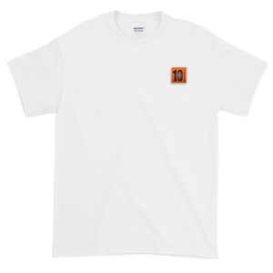 10 Tanker White Shortsleeve with printed logo on left chest
