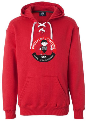 Hockey Lace Sweatshirt Full Front Red