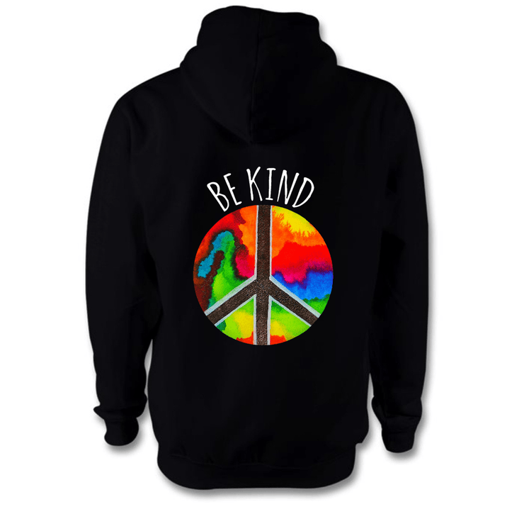 Be Kind Hoodie Hoodie Grow Through Clothing Black Back Extra Small Unisex