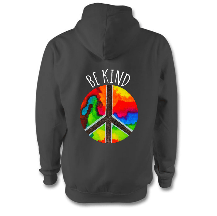 Be Kind Hoodie Hoodie Grow Through Clothing Grey Back Extra Small Unisex