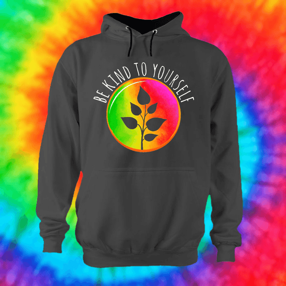 Be Kind To Yourself Hoodie Hoodie Grow Through Clothing Grey Front Extra Small Unisex
